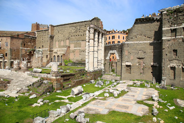 The Forum of Augustus in Rome, Italy