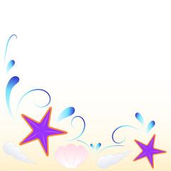 stelle marine e conchiglie sfondo
