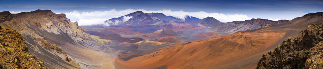 Panoramic View Haleakala Volcano Crater Summit  Maui Hawaii