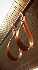 Handles Inside Metro Train
