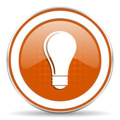 bulb orange icon idea sign