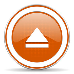 eject orange icon open sign