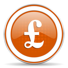 pound orange icon