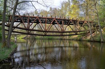 Wysadzony most na rzece Gwda koło Jastrowia
