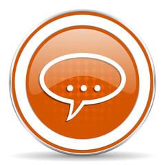 forum orange icon chat symbol bubble sign