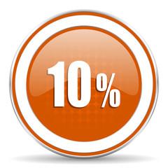 10 percent orange icon sale sign