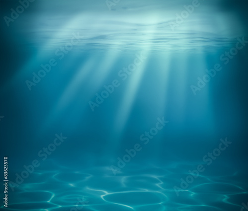 ocean or sea deep underwater background
