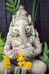 Close up ganesha , made from stucco work