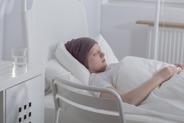 Teenage girl with blood cancer