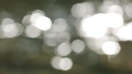 Bokeh of sun glares
