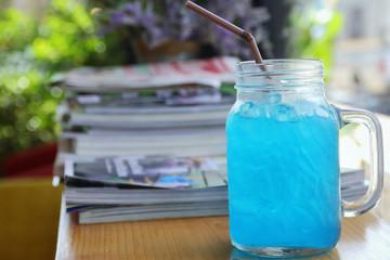 Blue Hawaiian lime soda