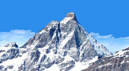 Matterhorn, Blick vom Theodulpass, Wallis, Schweiz