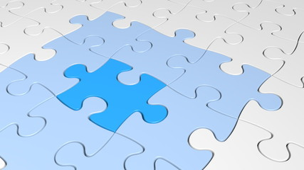 Strategy concept of a missing puzzle piece providing a solution