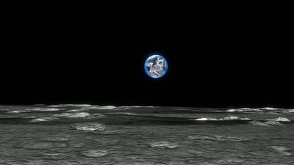 月から見た地球(前進)