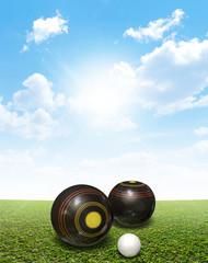 Bowls On Lawn