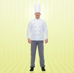 happy male chef cook