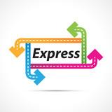 Express avec cadre flèches