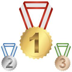 medallions first, second, third