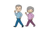 散歩する高齢者