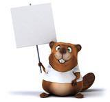 Beaver  A  Tshirt Wall Sticker