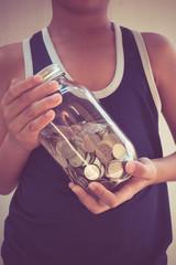 money in children's hands