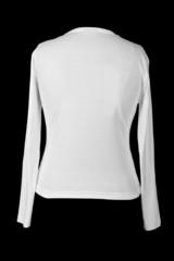 white t-shirt shot from back side