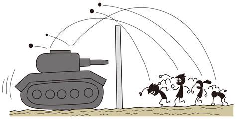 壁1枚先にある戦車