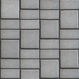 Gray Paving Slabs that Mimic Natural Stone.  poster