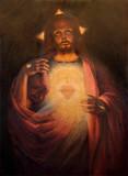 The Heart of resurrected Jesus Christ paint