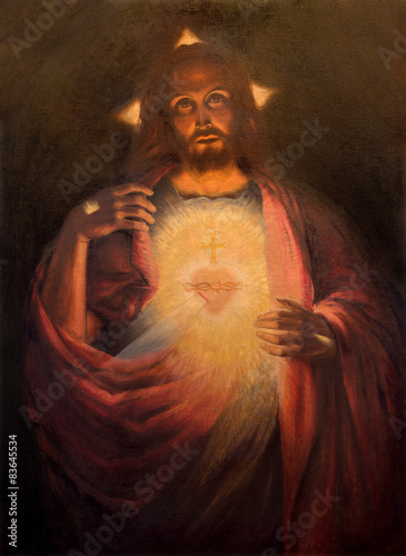 Plakat The Heart of resurrected Jesus Christ paint