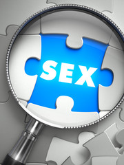 Sex - Missing Puzzle Piece through Magnifier.