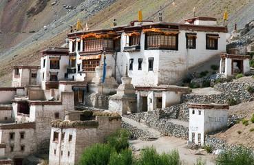 Lingshed gompa - buddhist monastery in Zanskar valley
