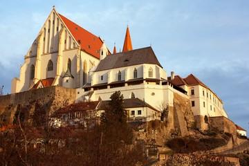 Znojmo, Czech Republic - evening sunshine on church