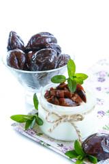 sweet milk yogurt with prunes