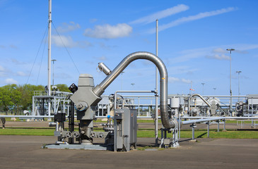 Modern equipment at a natural gas processing site.