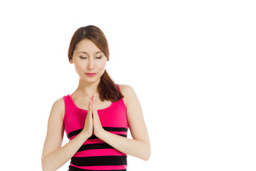 Model isolated praying