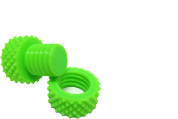 Plastic Screw Nut and Bolt printed by 3D Printer at Corner