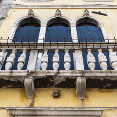 VENICE, ITALY. Fragment of the ancient building (the XV cent.)