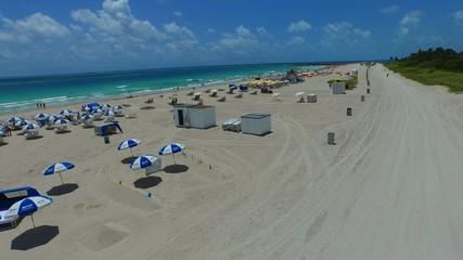 Aerial Miami Beach sands and ocean