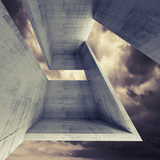 Abstract square architecture background, 3d
