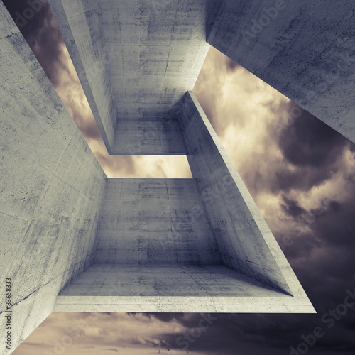 Abstract square architecture background, 3d - 83658333