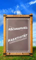 Strassenschild 34 - Kreativität