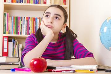 Schoolgirl overwhelmed