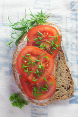 Bread with Tomato and Chives