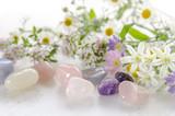 gemstones with herbal flowers - Fine Art prints