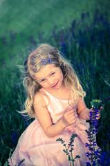 adorable little blond child