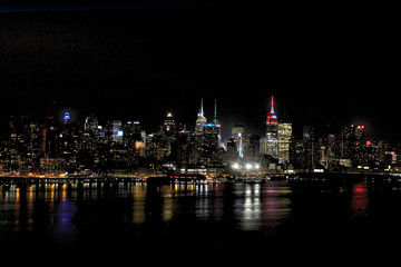 New york city / Skyline by night