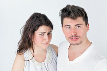 Loving strange couple