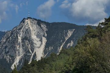 Mountain landscape  in Italian Alps during autumn, Italy