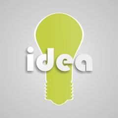 illustration of bulb idea